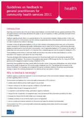 Guidelines on Feedback to general Practiioners