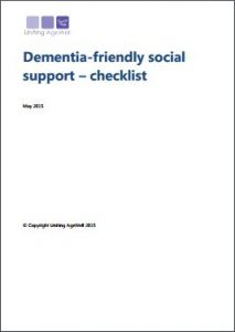 Dementia-friendly social support - checklist